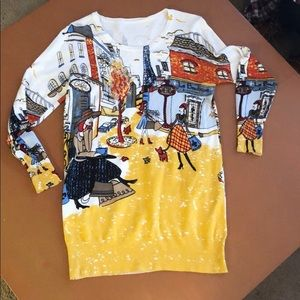 Paris scene sweater